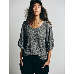 Free People Beach Heather Gray Nani Slouch Sweater